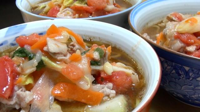【極上スープ】尻トマトラーメンをスープから作ってみた♡